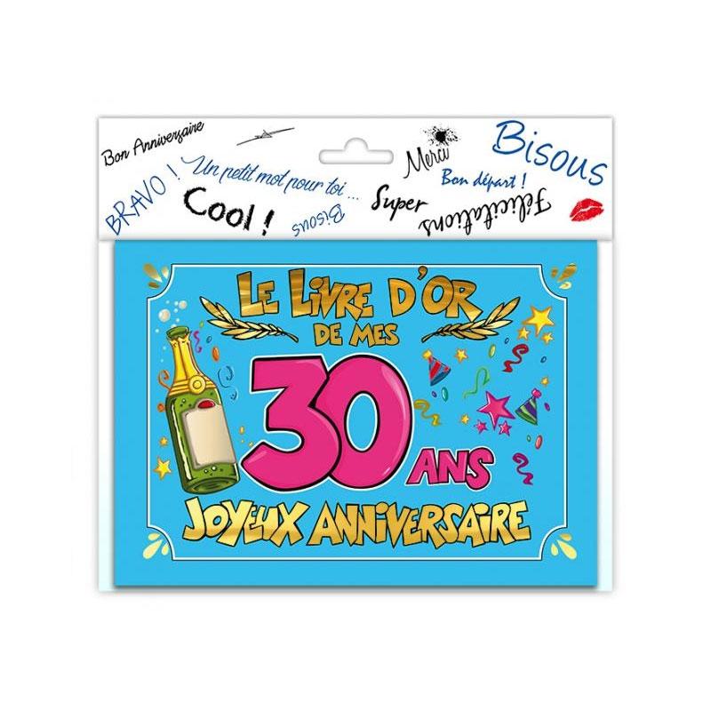 Livre d\'or anniversaire 30 ans