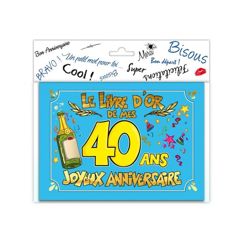 Livre d\'or anniversaire 40 ans