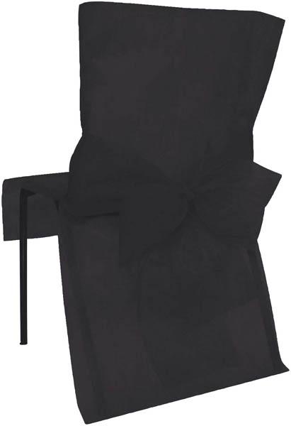 6 Housses de chaise noir