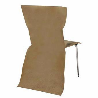 6 Housses de Chaise taupe