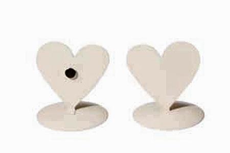 12 marques place coeurs métal blanc