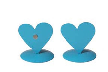 12 marques place coeur métal turquoise