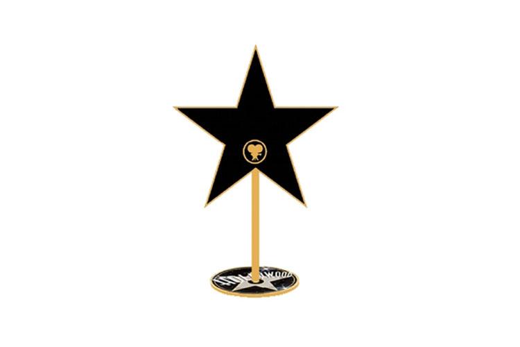 3 étoiles décoration de table 20 cm