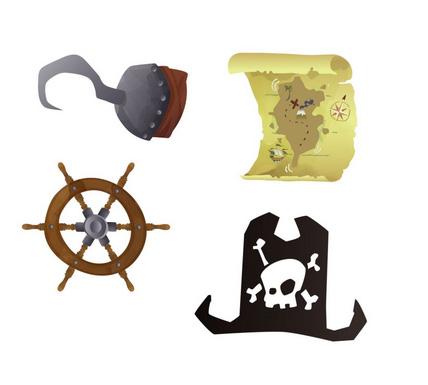 Confettis de tables pirates