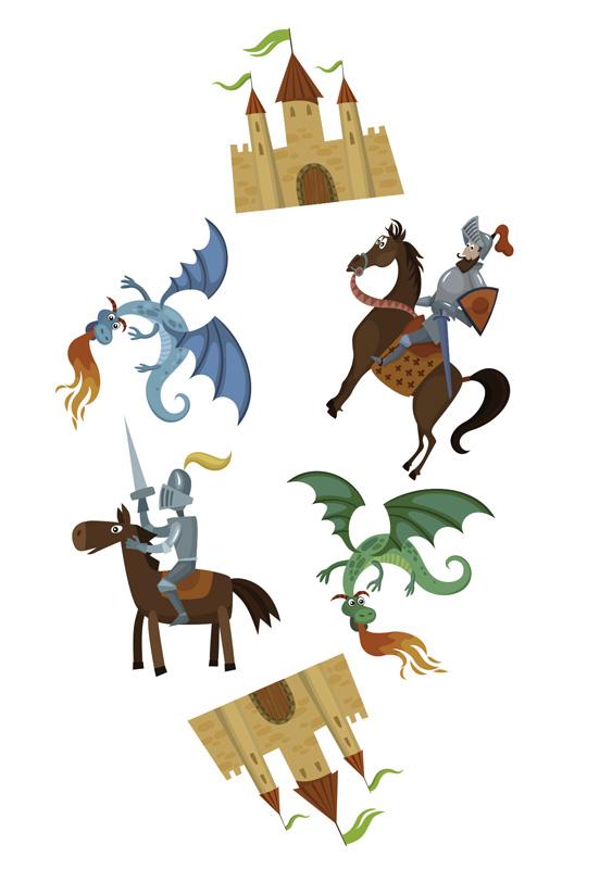 Confettis  thème chevalier