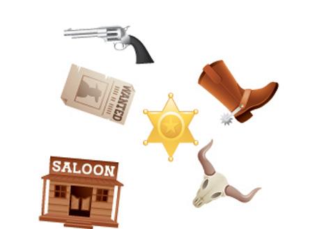 Confettis  thème western