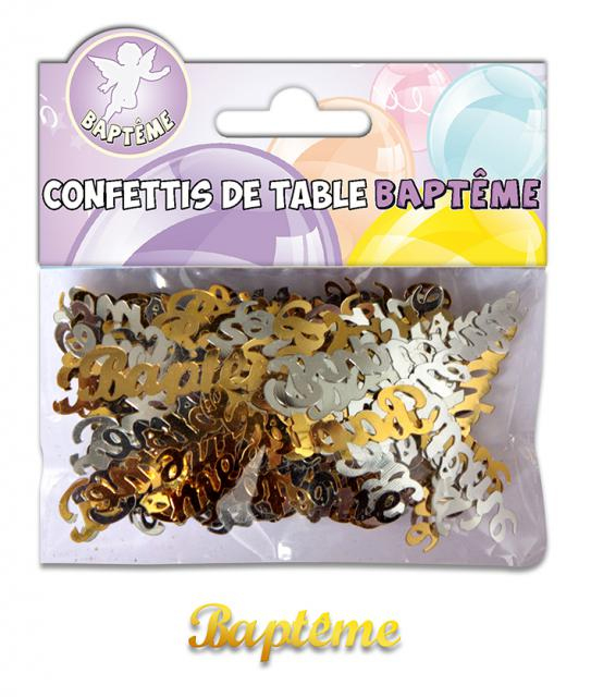 Confettis de table thème baptême