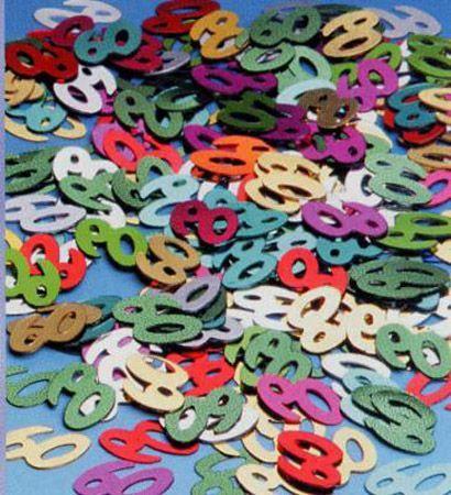 Confettis de Tables Métallisés 60 Ans