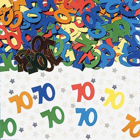 Confettis de Tables Chiffre 70