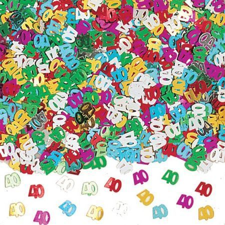 Confettis de Tables Chiffre 40