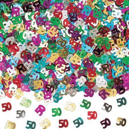 Confettis de Tables Chiffre 50