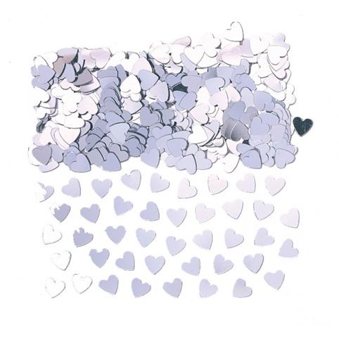 Confettis de Tables Coeurs Argents