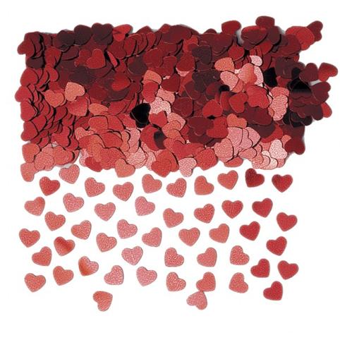 Confettis de Tables Coeurs Rouges