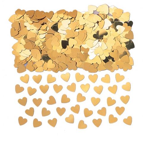 Confettis de Tables Coeurs Or