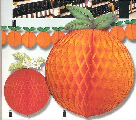 Décor fruit Orange Alvéolée