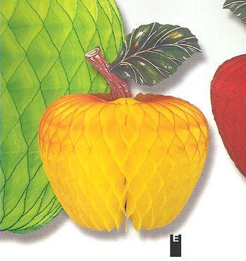 Décor fruit Pomme Jaune Alvéolée