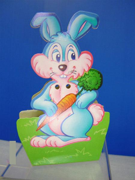 10 Boites pour dragées lapin bleu