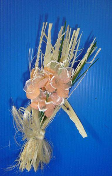 Bouquet Fagot Et Fleurs Saumons