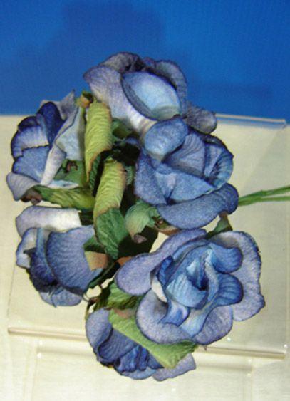 Bouquet 6 Roses Bleues