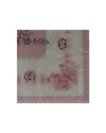 Serviettes Bouquet Céleste Rose