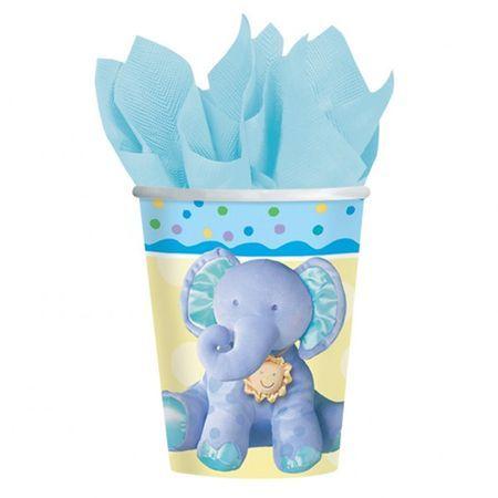 8 Verres Éléphant Bleu