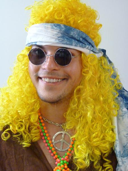 Perruque hippie Jaune
