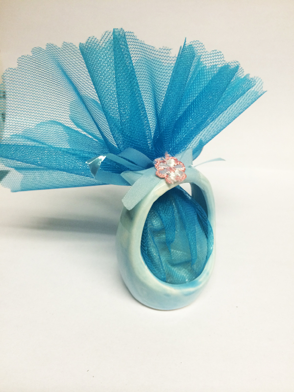 Ballotin dragées panier bleu