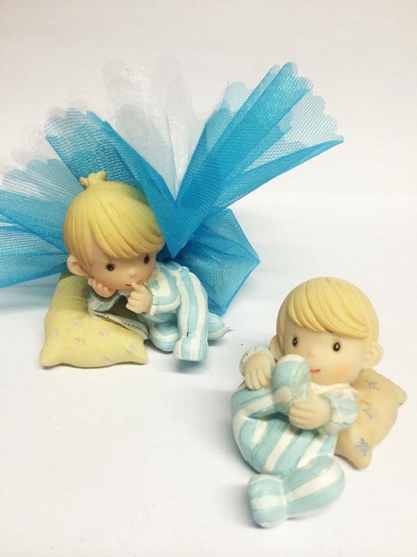 Ballotin dragées bébé bleu