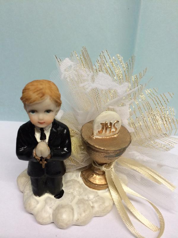 Ballotin dragées communion garçon