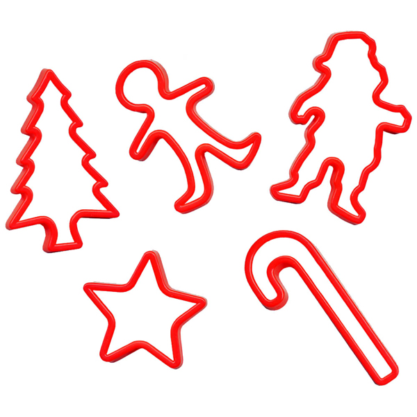 5 moules à cookie thème Noel