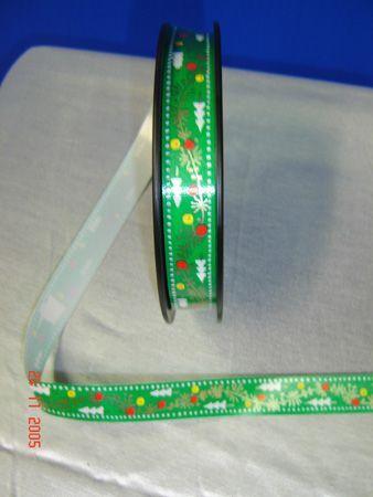 Ruban de Noël Vert