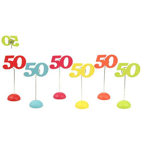 6 Marques Place Chiffre 50 de 11Cm