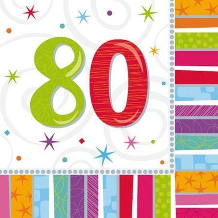 16 Serviettes Chiffre 80