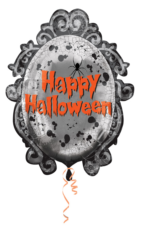 Ballon Mylar Halloween miroir gothique