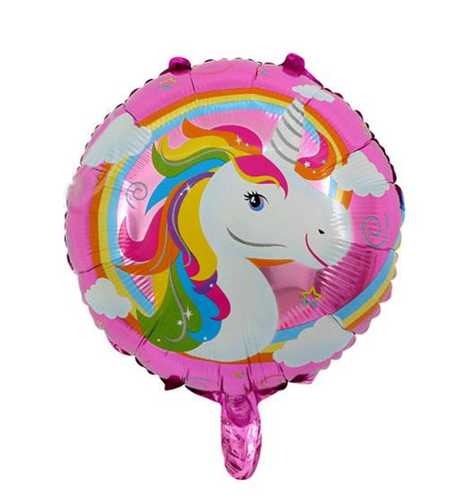 Ballon Licorne aluminium Mylar rose