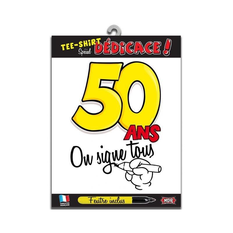 Tee shirt dédicace anniversaire 50 ans