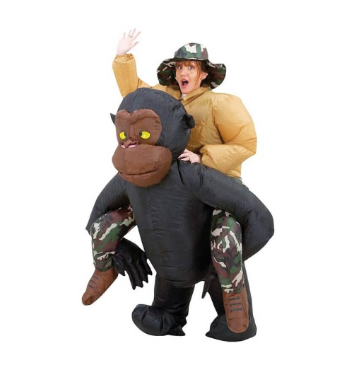 Déguisement de gorille gonflable