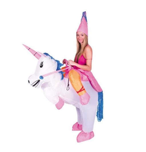 Déguisement de licorne gonflable