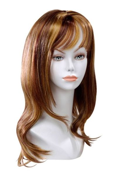 Perruque Méchée  Blond Mèches Auburn