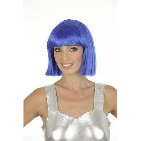 Perruque Cabaret Bleue