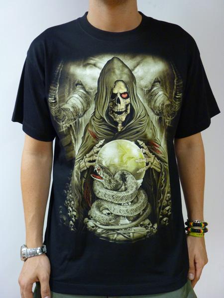 Tee shirt rock glow tête de mort