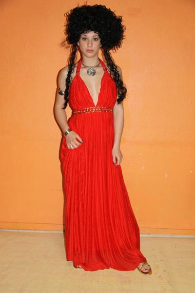 Costume luxe de prêtresse rouge