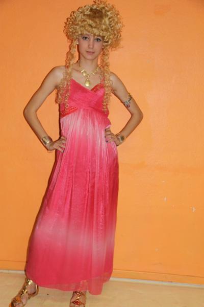 Costume luxe de Princesse Grecque Ou Égyptienne Rouge
