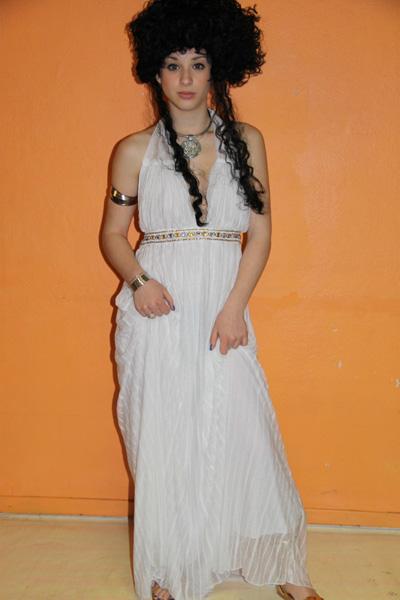 Costume luxe de Cléopâtre blanche