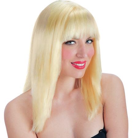Perruque Blonde Avec Frange