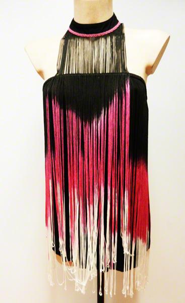Mini robe charleston rose et noire