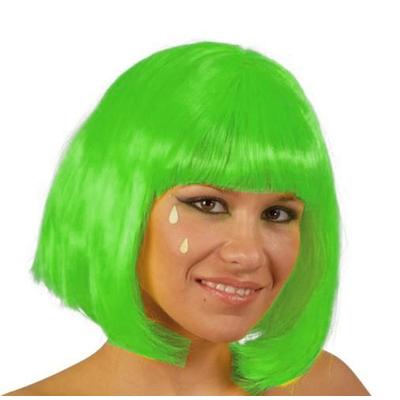 Perruque charleston vert fluo