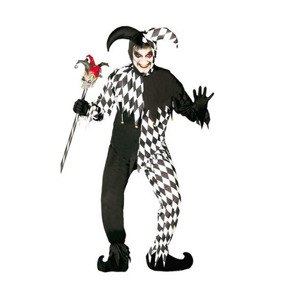 Déguisement Joker ou clown  blanc et noir