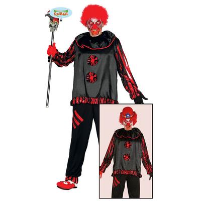Déguisement de clown rouge et noir