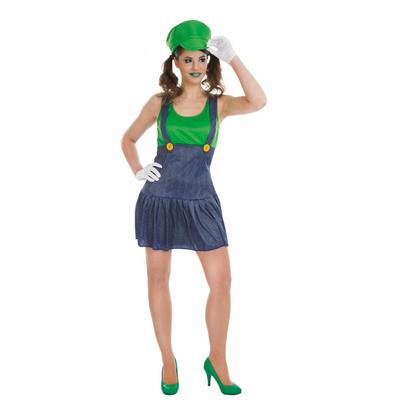 Déguisement miss plombier vert